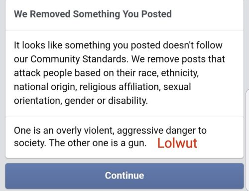 So Now Guns Are A Protected Group On Facebook