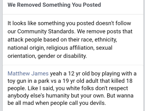 "Gets Banned For 30 Days By Facebook After Getting Called A ""Black Thug"" By Racists"