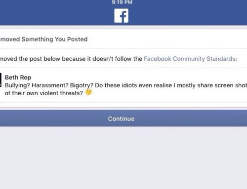 Calling Out Men For Making Threats Gets You Banned On Facebook