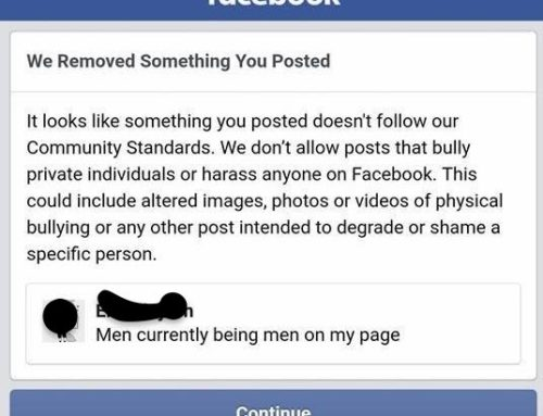 "Posting ""Men"" Will Get You Banned"