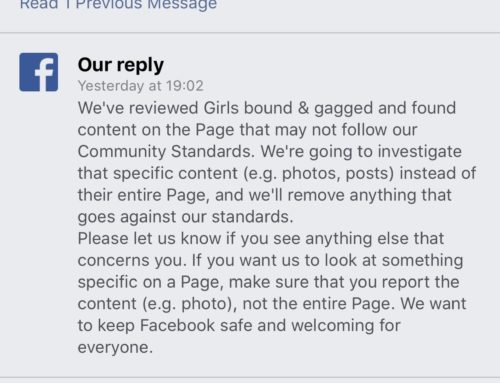 "Somehow This Page ""Maybe"" Had A Few Posts In Violation Of FB Rules Not The Page Itself"
