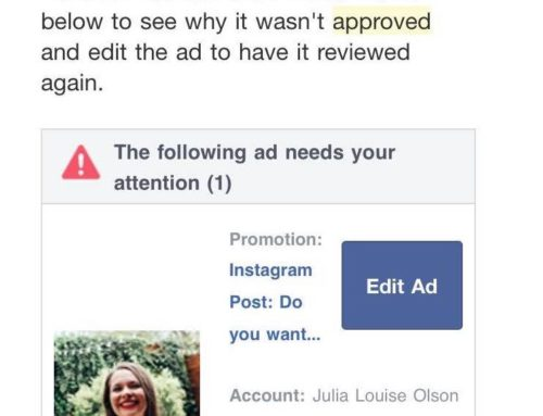 Two Posts With Images Were Submitted To Facebook For Ads, Only 1 Image Was Approved