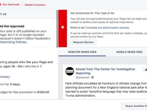 Reveal News Was Blocked On Facebook From Sharing Their Article
