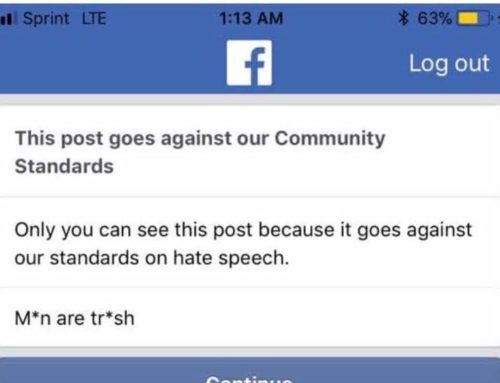 Even When You Censor Your Own Post Facebook Will Still Find & Remove It