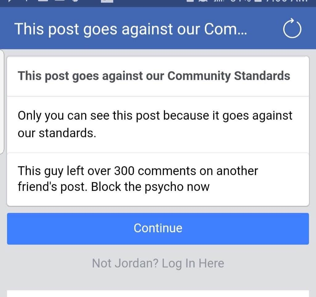 Warning Women About Serial Trolls On Facebook Is Against Community