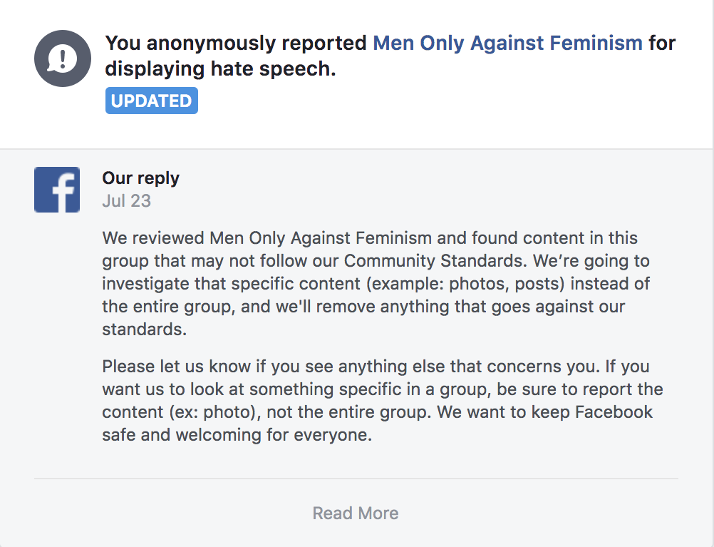 Facebook Groups/Pages Which Promote Hate & Against Women Are