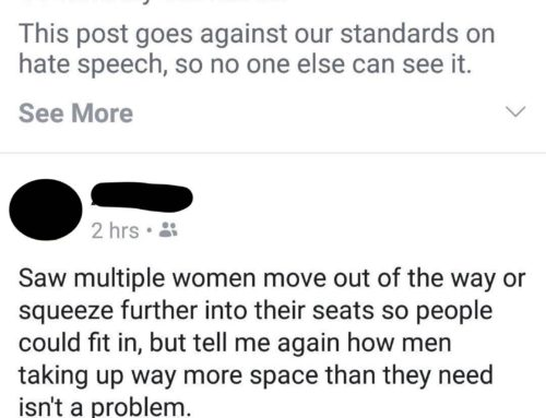 "Posting About ""Manspreading"" Is Hate Speech On Facebook"