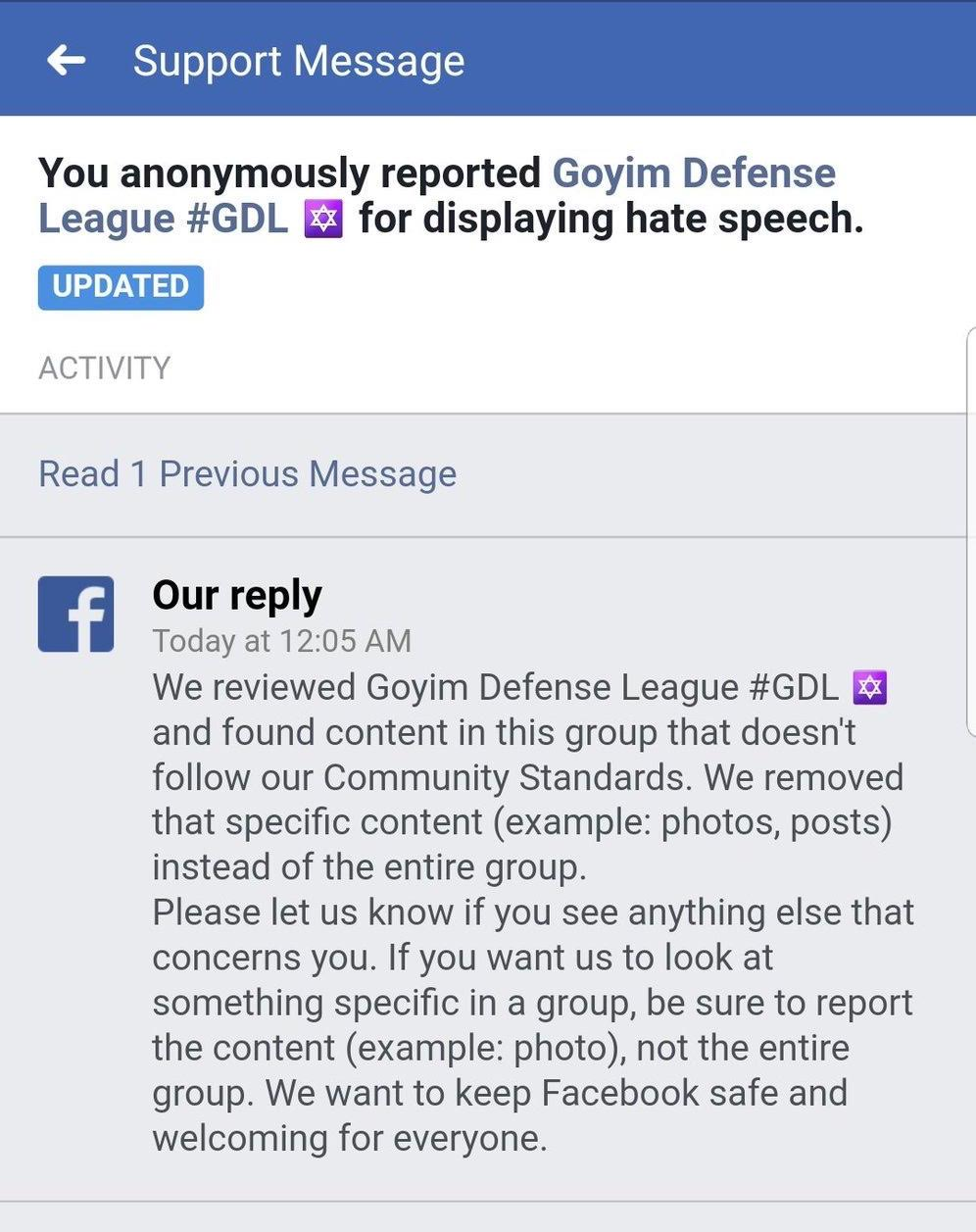 A Known Hate Group Is Still Allowed On Facebook – Facebook