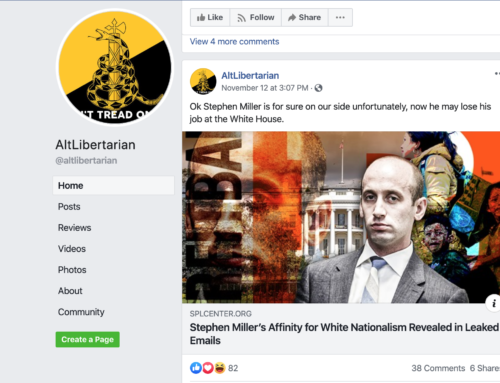 White Supremacists Post Freely On Facebook
